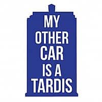 Hobo Ninja Deal: My Other Car is a Tardis Vinyl Vehicle Decal