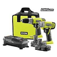 Home Depot Deal: Ryobi ONE+ 18V Lithium-Ion Drill & Impact Driver Combo Kit
