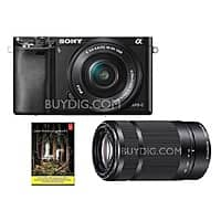 BuyDig Deal: Sony Alpha A6000 DSLR w/ 16-50mm (new) + 55-210mm (refurb) + Adobe LR5