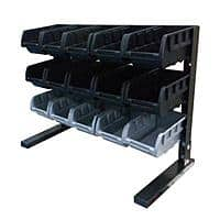 Home Depot Deal: Husky 15-Compartment Steel Table-Top Storage Rack w/ 15 Bins