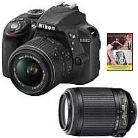 eBay Deal: Nikon D3300 DSLR w/ 18-55mm + 55-200mm Lens (Refurb) + Adobe PSE12