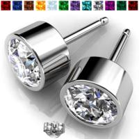Tanga Deal: 2-Pairs of Swarovski Elements Birthstone Stud Earrings