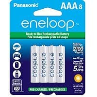 Amazon Deal: 8-pk Panasonic Eneloop AAA Ni-MH Pre-Charged Rechargeable Batteries