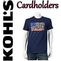 Kohls Deal: Kohls Cardholders: Patriotic Design Men's Tees: 6 for $14 or 1 for