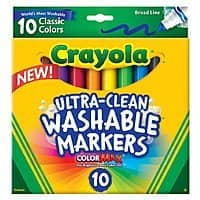 Amazon Deal: Crayola Products: 10-Count Washable Markers or 64-Count Crayons
