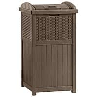 Target Deal: Suncast Resin Wicker Trash Receptacle or Hose Reel