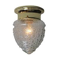 Home Depot Deal: Lighting Sale: Bel Air 1-Light Polished Brass Flush Mount