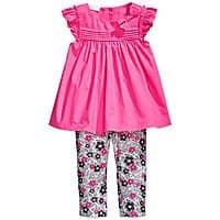 Macy's Deal: Baby Apparel: First Impressions Girls' Tunic and Leggings Set $6, Boys' Shorts