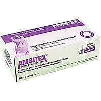 Staples Deal: 100-Count Ambitex Powder-Free Disposable Vinyl Exam Gloves (Medium or Large)