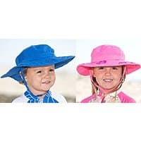 2-Pack Sun Protection Zone Kids' Safari Boonie Beach Hat (choose blue or pink)