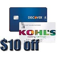 Discover Card Holders: $10 Kohl's Cash