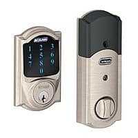 Schlage Connect Camelot Touchscreen Deadbolt w/ Built-in Alarm & Z-Wave (Refurb)