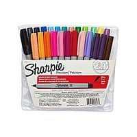 24-Count Sharpie Ultra Fine Point Permanent Markers (Assorted Colors)