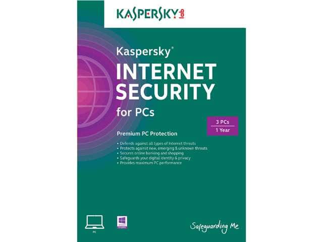 Free after Rebate Software: Kaspersky Internet Security 2014 (3 PCs)  Free after $45 Rebate & More + Free Shipping