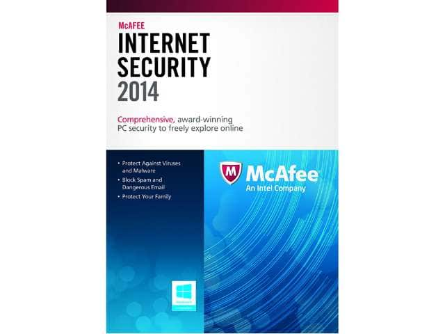 McAfee Internet Security 2014 (3 PCs, Product Key Card) + $10 Newegg Gift Card  Free + Free Shipping
