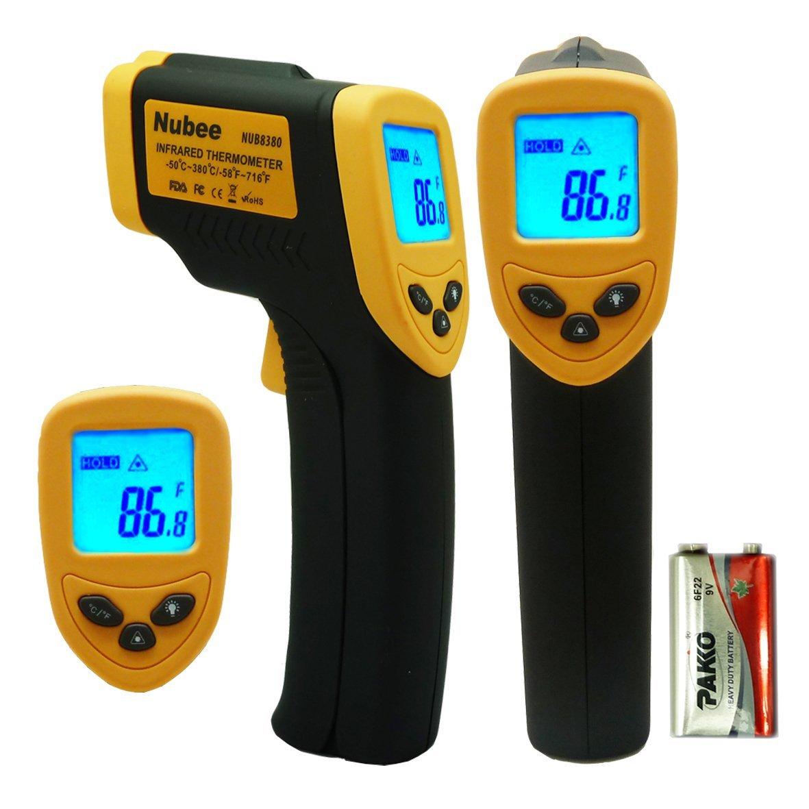 Nubee Non-Contact Infrared Thermometer Digital Temperature Gun w/ Laser Sight (NUB-8380) - $11.98 AC + S&H @ Amazon.com
