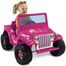 Walmart Fisher-Price Power Wheels Barbie Jeep Ride-On $88.00