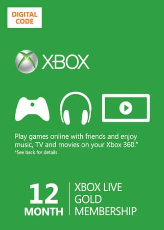 12-Month Xbox Live Gold Membership (Digital Delivery) $37.50