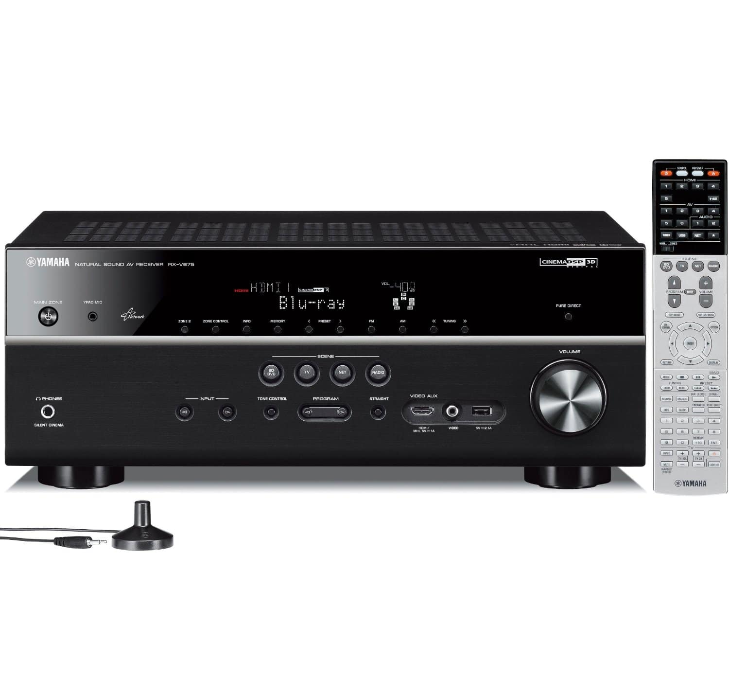 Yamaha RX-V675 7.2-Channel Network AV Receiver w/ Airplay $299.95 + Free Shipping