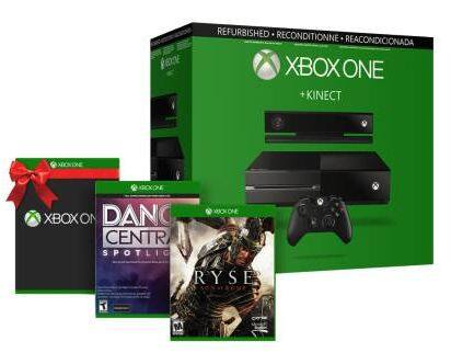 Xbox One Console w/ Kinect (Refurbished) + One Select Game & More  $330 + Free Shipping