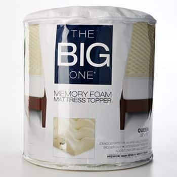 """The Big One1 1/2"""" Memory Foam Topper (various sizes)  $25 + Free Shipping"""