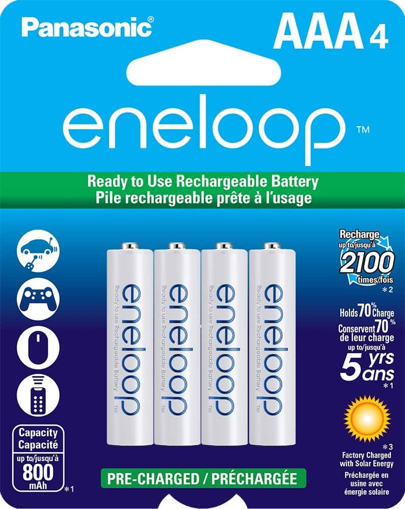 4-Pack Panasonic Eneloop AAA Ni-MH Pre-Charged Rechargeable Batteries (BK-4MCCA4BA) - $8.99 AC + Free Shipping @ Newegg.com