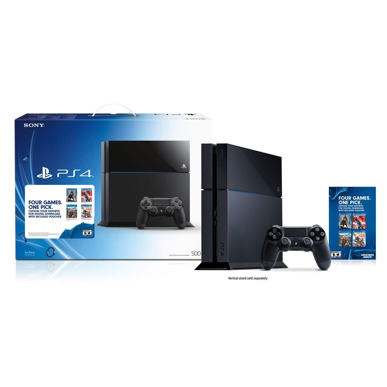 PS4 - Best Buy - Four Games One Pick Bundle - Black for $349 (Choose one game: Destiny, NBA 2K15, LittleBigPlanet 3 or Far Cry 4)