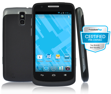 FreedomPop ZTE Force LTE Smartphone (Certified Pre-Owned B-Stock)  $25 + Free Shipping