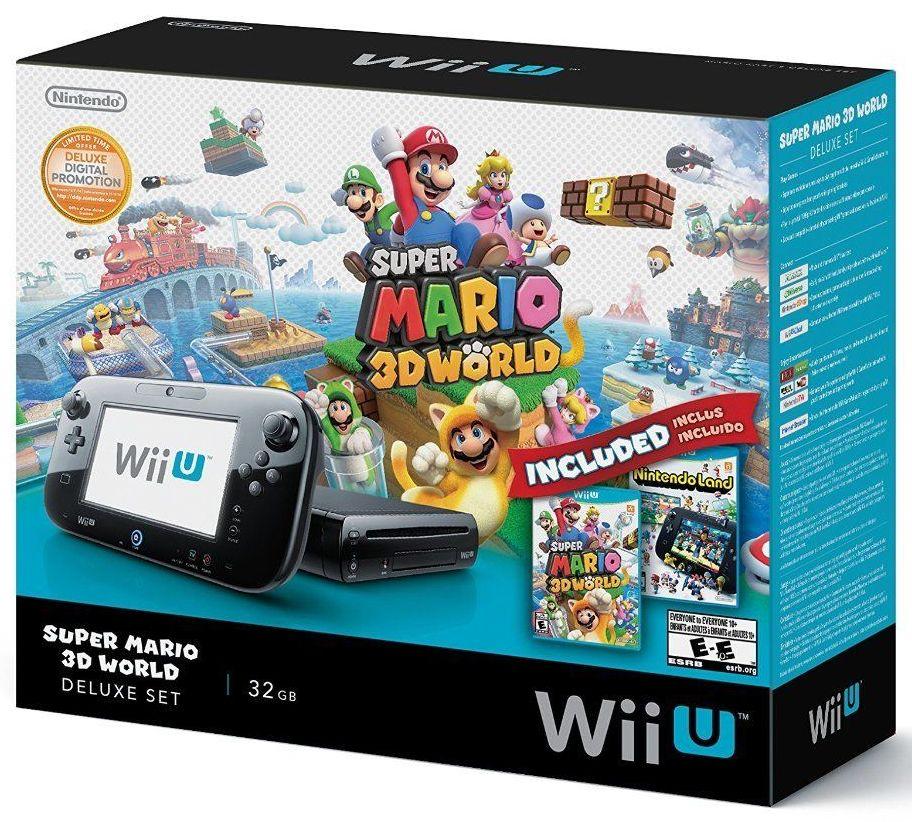 32GB Nintendo Wii U Deluxe Set w/ Super Mario 3D World & Nintendo Land  $259.99 with free shipping