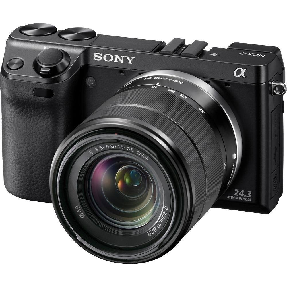 Sony Alpha NEX-7 Compact Interchangeable Lens Digital Camera w/ 18-55mm Lens  $498 with free shipping