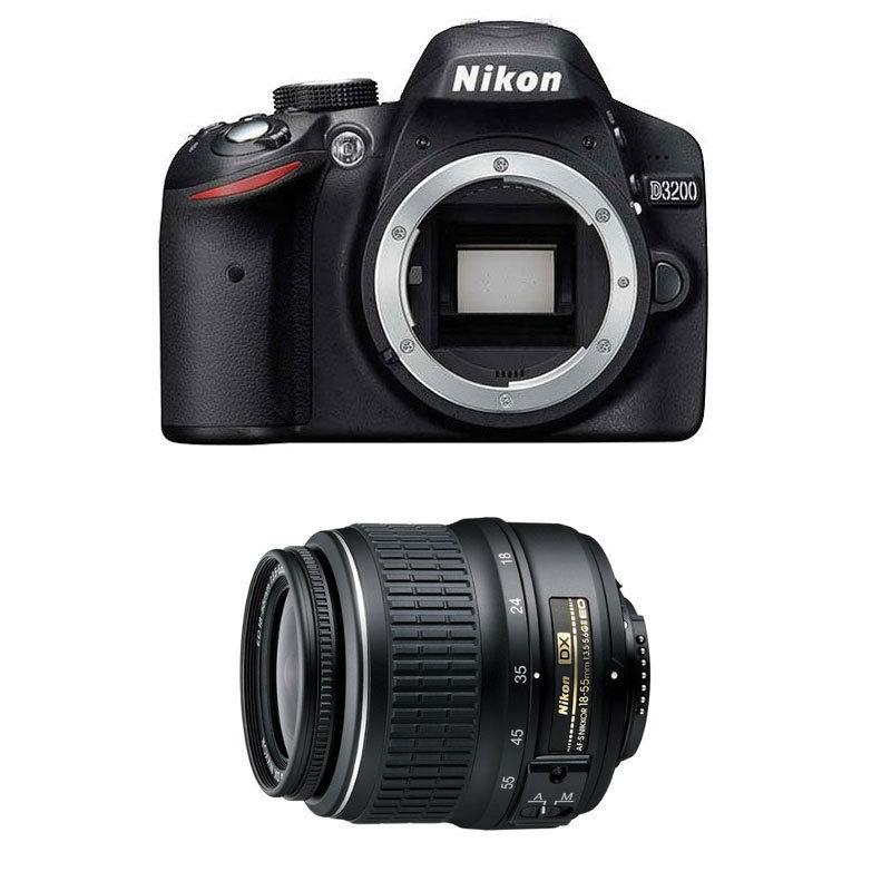 Nikon D3200 24.2 MP CMOS Digital SLR Camera with 18-55mm DX Lens Refurbished $279 + Free Shipping (eBay Daily Deal)