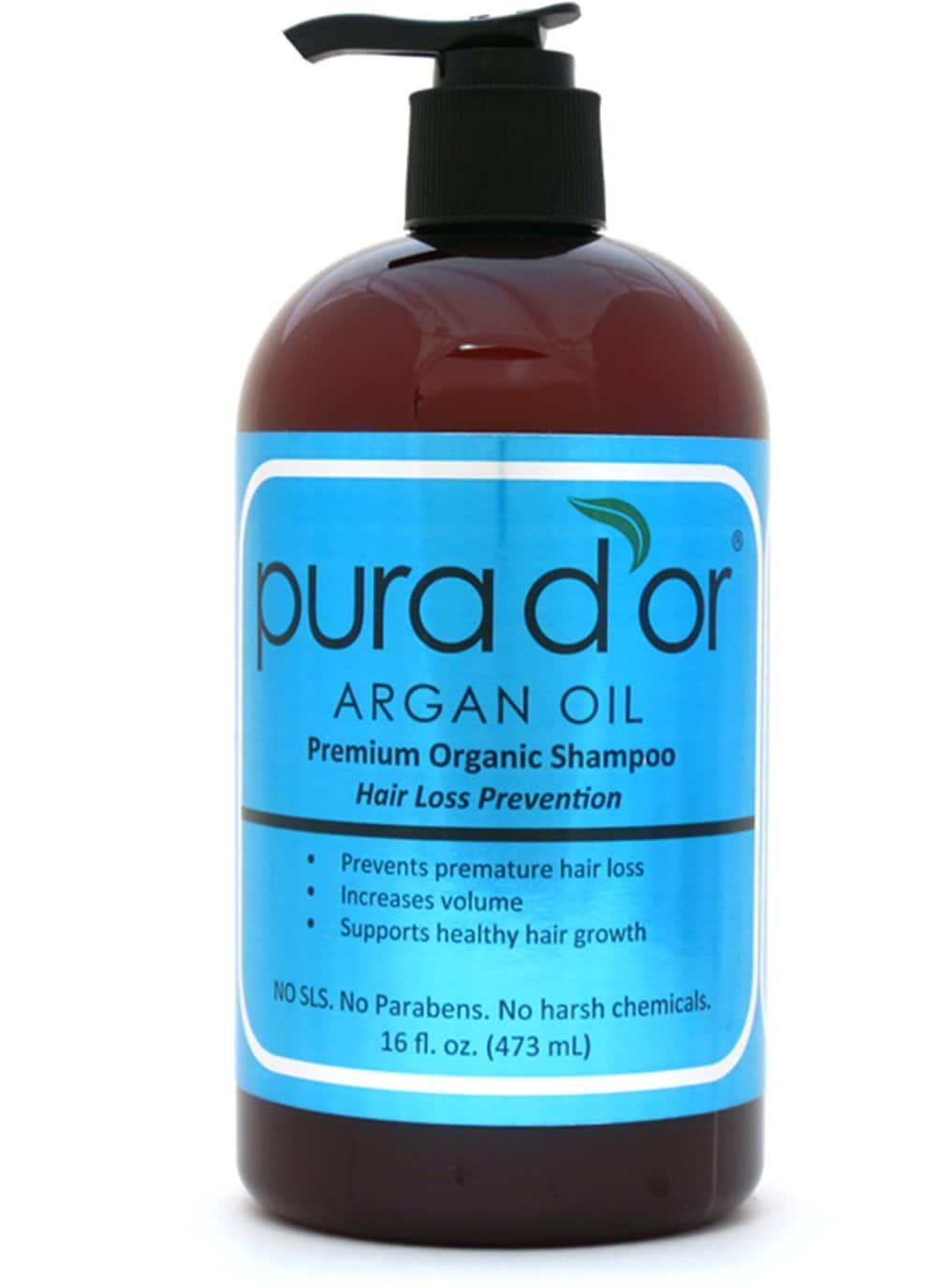 Pura d'or Hair Loss Shampoo $16.49 + FSSS w/ S&S @ Amazon