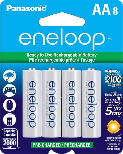 8-Pack of Eneloops: AA's $15, AAA's $10 After $8 Rebate + Free Shipping (buy more & SAVE)