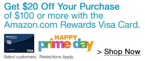 $20 off $100 Purchase w/ Amazon Rewards VISA Card  $20 off $100