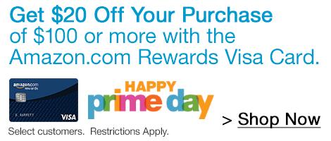 $20 off $100 Purchase w/ Amazon Rewards VISA Card  $20 off $100