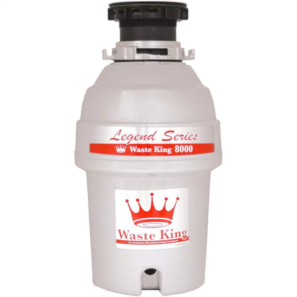 Waste King L-8000 Legend Series 1.0-Horsepower Continuous Feed Garbage Disposal $87.97 + Free Shipping