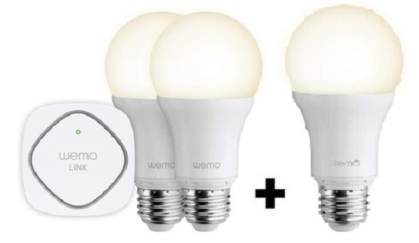 Belkin WeMo 2-Bulb LED Lighting Starter Set + Bonus Smart LED Bulb  $40 + Free Shipping