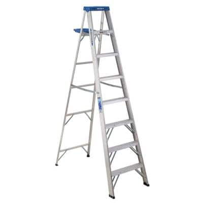 8' Werner Aluminum Step Ladder with 250 lb. Load Capacity  $50 + Free Store Pick-Up
