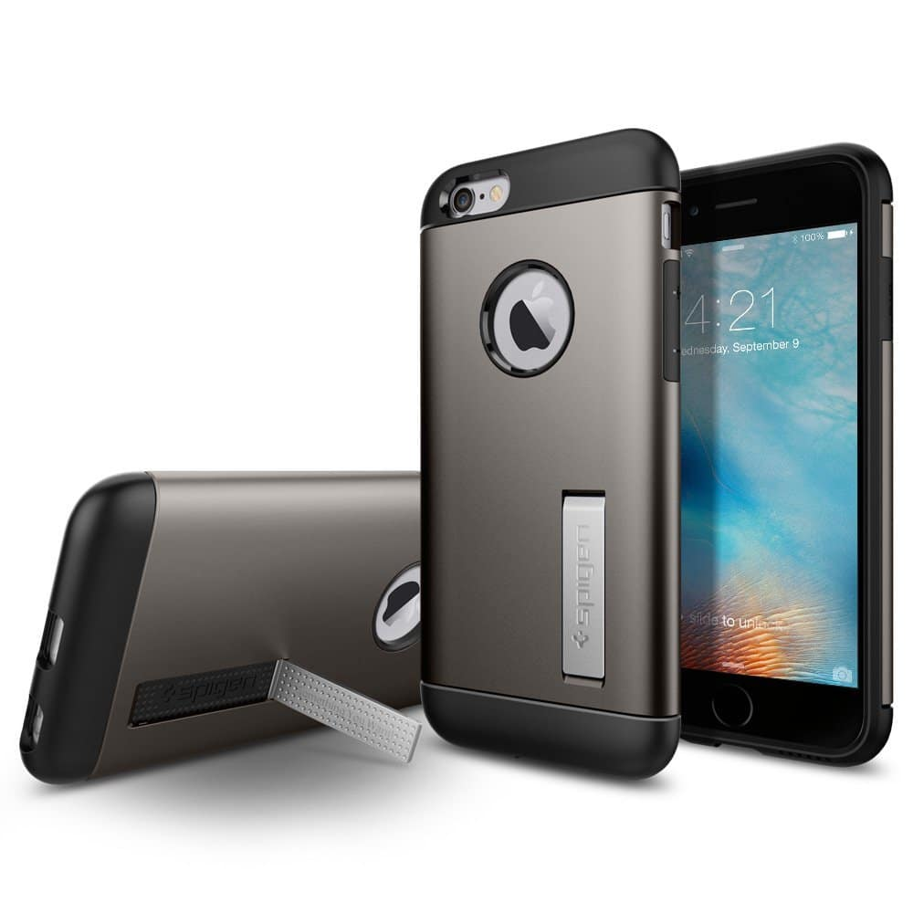 Spigen Slim Armor Case for Apple iPhone 6 / 6S - FREE AC & 3.3ft MFi Certified Lightning Cable - $4.99 AC @ Amazon