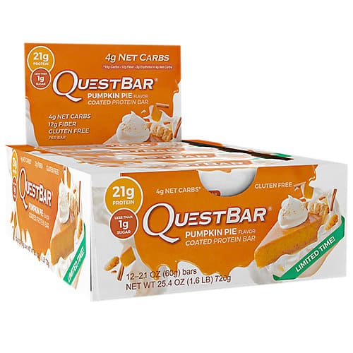 24-Count Quest Nutrition Protein Bars in Pumpkin Pie Flavor  $26 + Free Shipping