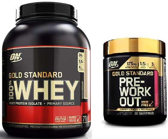 5lbs. Optimum Nutrition Gold Standard 100% Whey Protein (various flavors) w/ ON Pre Workout $46.39 + Free Shipping
