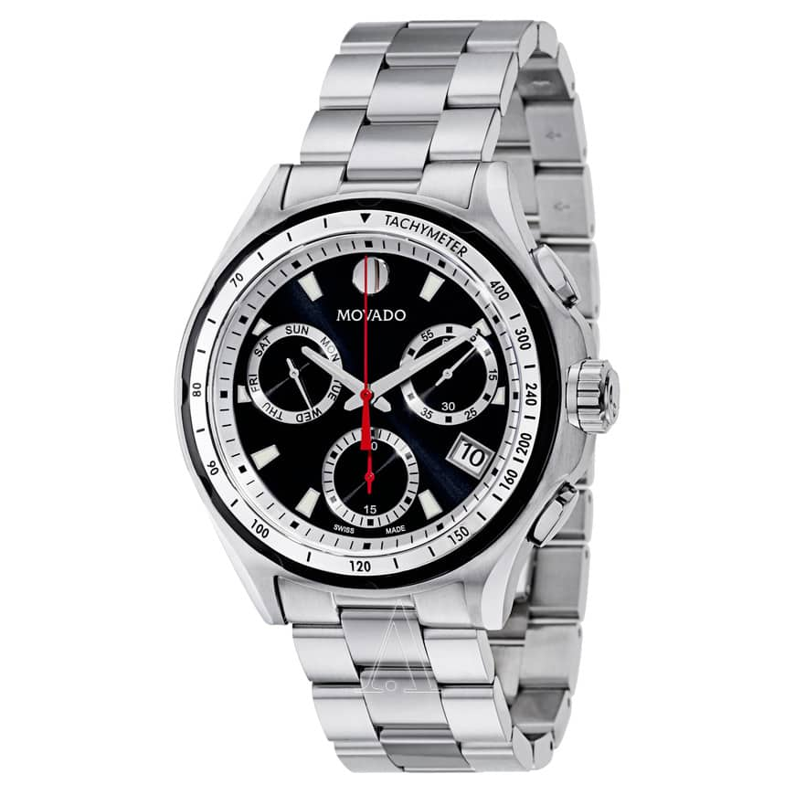 Movado Men's Series 800 Stainless Steel Watch (Black Dial)  $319 + Free Next-Day Shipping