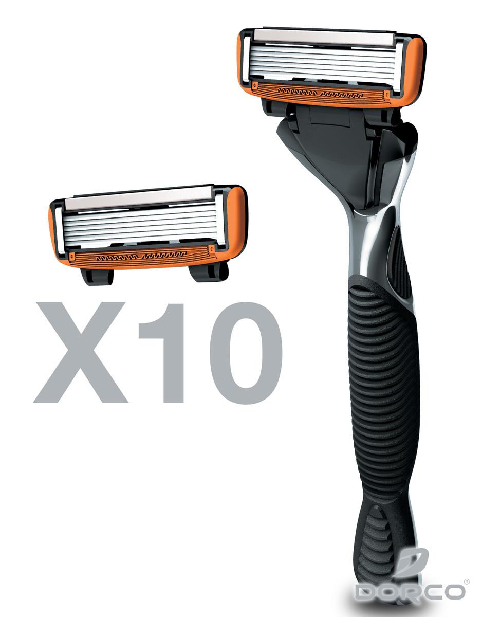 Dorco USA: Pace 6 Combo Set (10 Cartridges) - $10.12 Plus Free Shipping