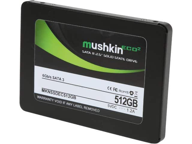 "$119.99 Mushkin Enhanced ECO2 2.5"" 512GB SATA III Internal Solid State Drive (SSD) at Newegg.com"