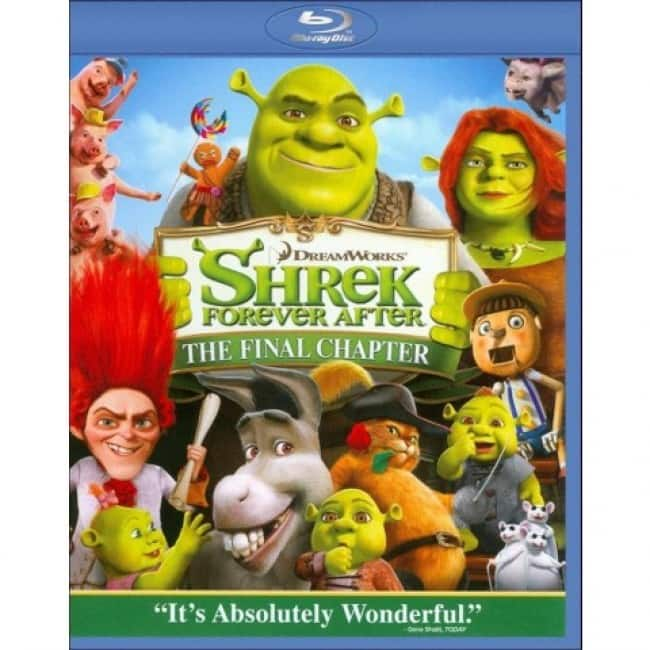 Shrek 4 Forever After in Blu-Ray 3D (or 2D Standard) for $3.49 + Free Shipping