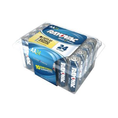 Price Drop: 24-Pack Rayovac Alkaline Batteries (AA or AAA) $4 + Free Store Pickup Homedepot.com