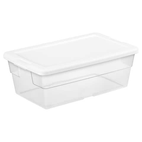 Target - Sterilite® 6 Qt Clear Storage Tote - Clear with Blue Lid $0.94 *in store pick up*