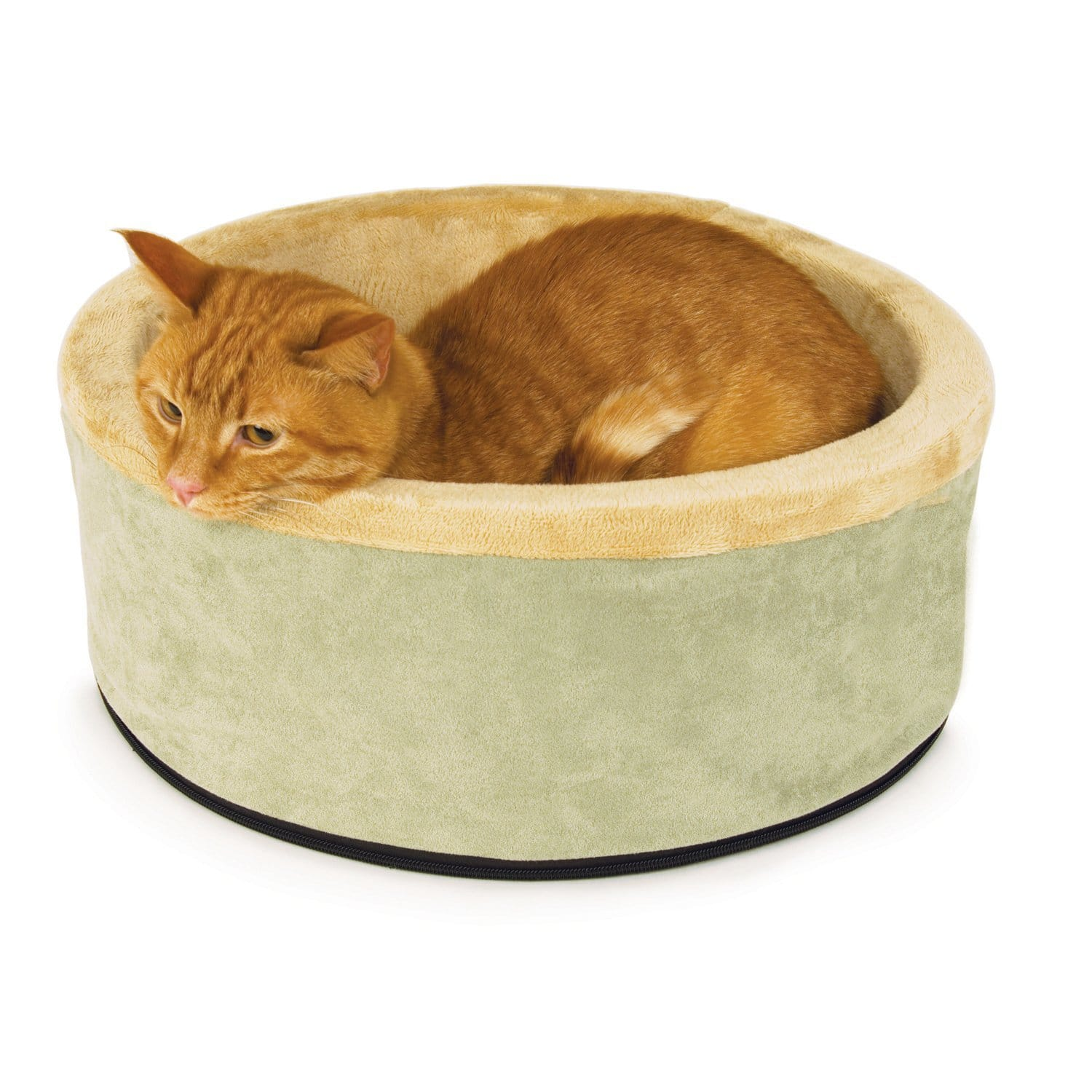 "K&H Thermo-Kitty 16"" Heated Cat Bed (Sage)  $21"