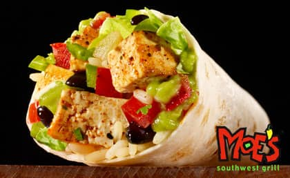 Moe's Southwest Grill Coupon: Buy One Get One Free Burrito  BOGO Free