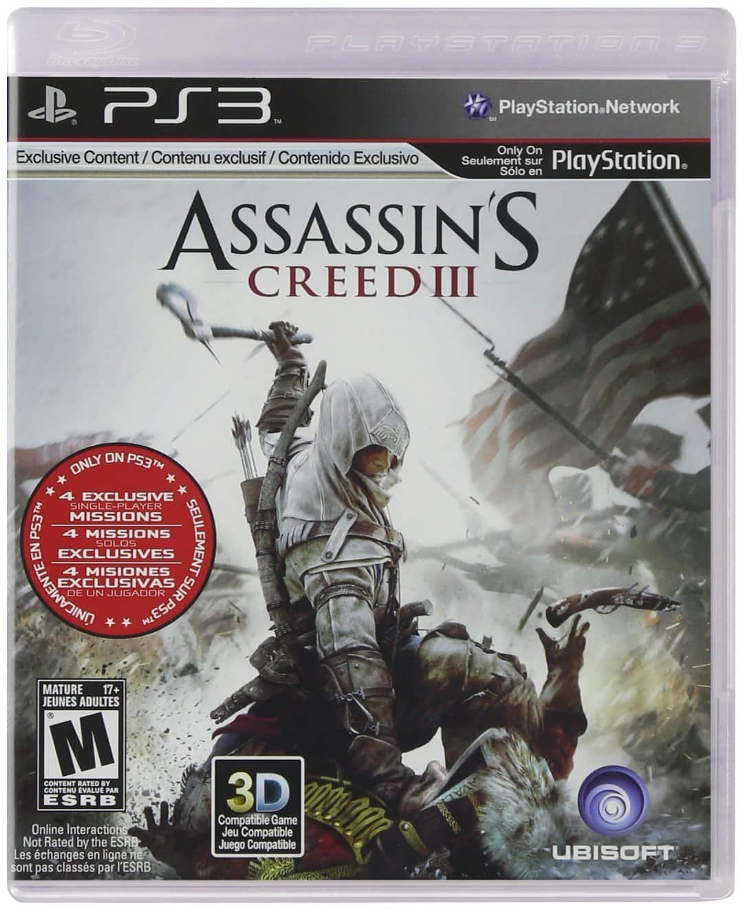 Assassin's Creed III (PS3 Used Like New) $1.56 + Free Shipping w/ Prime or FSSS